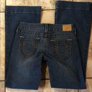True Religion Candice flare leg jeans size 29 x 34